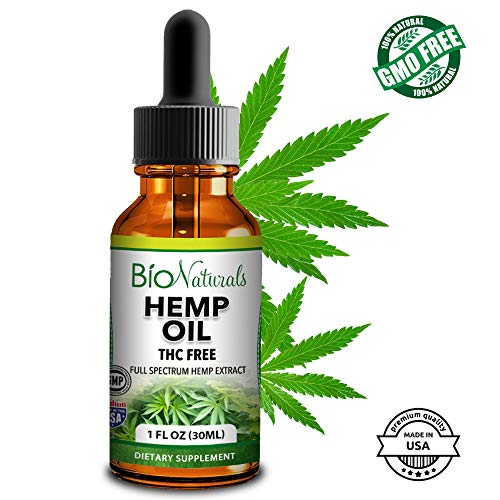 Organic Hemp Oil Extract - 100% Natural Supplement Supports Relief from Pain, Anxiety, Stress, Inflammation & Aids Sleep - 1 fl oz
