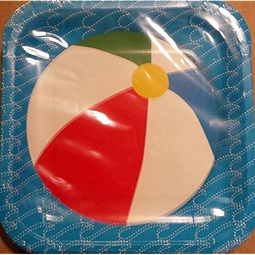 beach paper plates amazon com