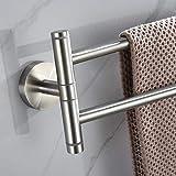 IRIEBR Wall-Mounted Swing Out Towel Bars Bathroom