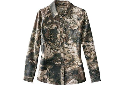 Cabelas Womens Shirt - Cabela's Women's Silent Weave Hunting Camo 7 Button Shirt, Medium, Zonz Western