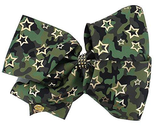 (JoJo Siwa Large Cheer Hair Bow (Green Camo))