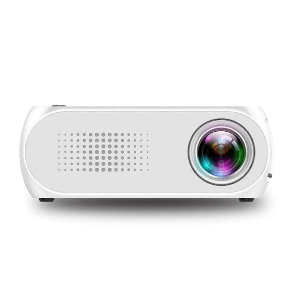 Home Mini HD 1080PLED Mini Portable Projector-White by HBOY