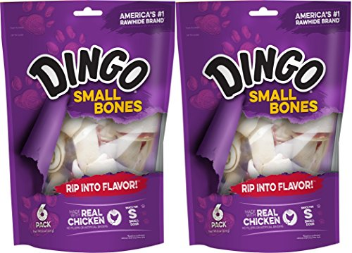 (Dingo Bone Small 6Pack Value Bag, 9Ounce (Pack of 2))