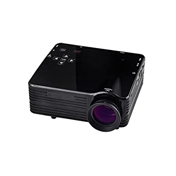 Mini LED LCD Proyector Portátil para Cine en Casa 1080P FHD EU Enchufe - Negro