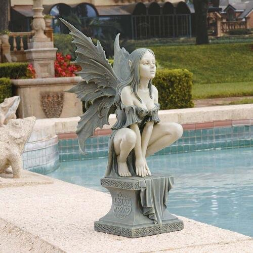 Fairy Winged Large Perilous Perch Statue Design Garden Statue Celtic