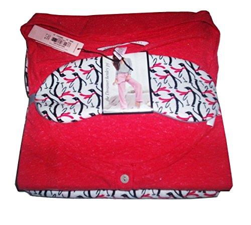 eamer Henley Pajama 3pc Set (X-Large, Red Penguin) ()