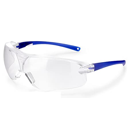 96c51dd2f92 Futuristic Oversized Safety Glasses with Clear Frame Transparent Lens Anti-Fog  Protective Chemical Protection Goggles  Amazon.co.uk  DIY   Tools