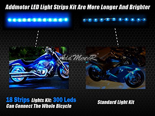 Addmotor Motorcycle LED Light Strip Kit RGB 18pcs Multicolour Remote App Cotrol Flexible Strip Kit with Music Sync for Universal Motorcycle (18pcs Remote App Control) by Addmotor (Image #5)