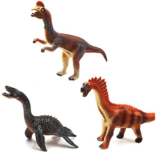 Awayyang 3 Sets Of Large Simulation Soft Rubber Dinosaur Model - Biggest The In Chicago Mall