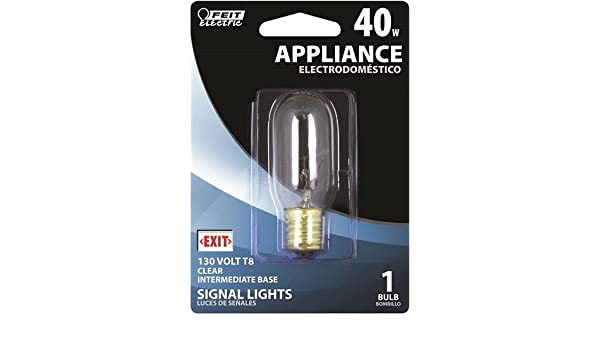 Feit Electric Bp40t8n-130 Appliance Light Bulb, T8, 40watt, 130 Volts - - Amazon.com