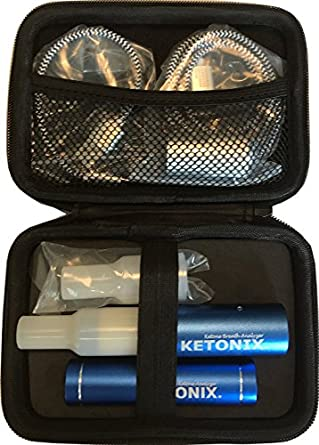 KETONIX BLUETOOTH connection to your Smart Device AND BATTERY PACK. Reusable Breath Ketone Level Analyzer with Painfree, not strips required, one time fee