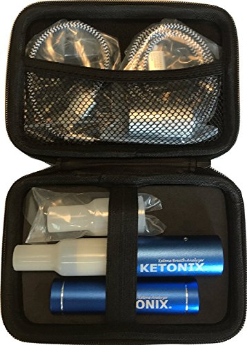 KETONIX BLUETOOTH connection to your Smart Device AND BATTERY PACK. Reusable Breath Ketone Level Analyzer with Painfree, not strips required, one time fee by KETONIX