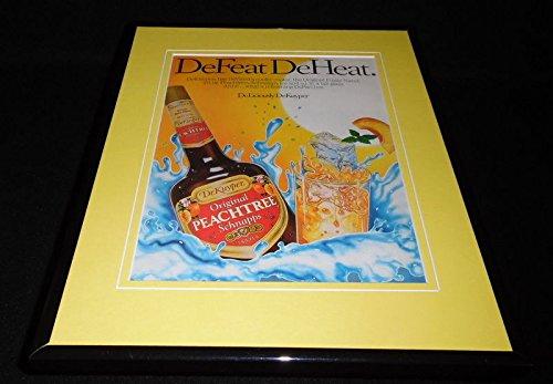 1988 Peachtree Schnapps DeKuyper Framed 11x14 ORIGINAL Advertisement