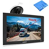 9inch Truck GPS Big Touchscreen Trucking GPS Xgody GPS Navigation for car Navigation 8GB ROM SAT NAV System Navigator Driving Alarm Lifetime Map Updates Truck GPS Navigation System for Trucks