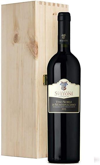 vino tinto italiano Vino Nobile di Montepulciano DOCG Fattoria Svetoni (MAGNUM 1,5 litros en caja de madera): Amazon.es: Alimentación y bebidas