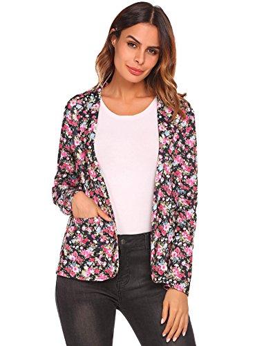 (Long Sleeve Blazer Women's Lightweight Thin Jacket Long Sleeve Open Front Cardigan S)