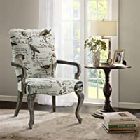 Arnau Goose Neck Arm Chair Ivory Multi See below