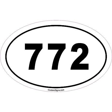 Amazoncom Area Code Bumper Sticker For Car Automotive - Area code 772