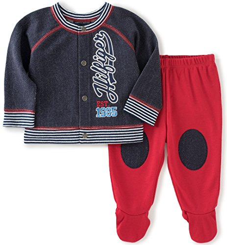 tommy-hilfiger-baby-boys-2-piece-cardigan-and-pant-set-blue-orange-6-9-months