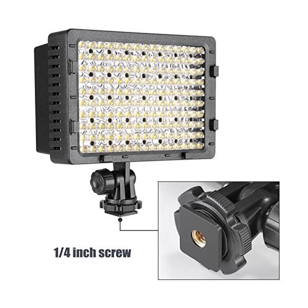 Neewer Pannello LED 160pcs da Potenza Ultra Alta Regolabile per Camera Digitale/Videocamera Video Luce/Luce LED per… 6 spesavip