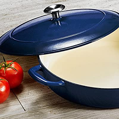 Tramontina Gourmet Enameled Cast Iron 4 qt. Covered Braiser - Gradated Cobalt /Color:Blue