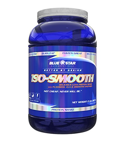 Blue Star Nutraceuticals – Iso-Smooth Pharmaceutical Grade Protein Shake Vanilla Dream – 2 lbs. For Sale