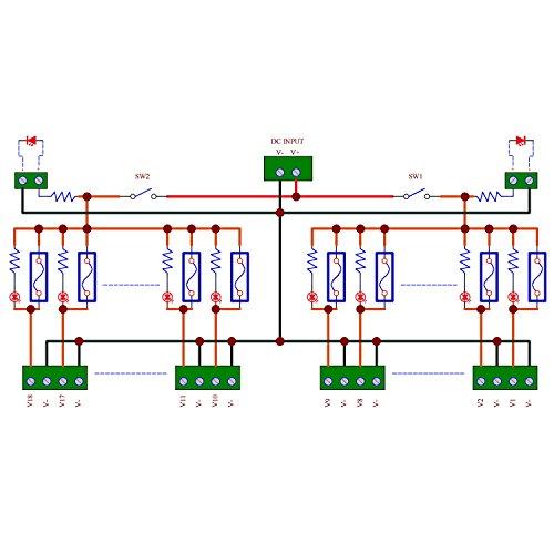 Electronics-Salon 18 Channels 12V/24V 20A Power Distribution Fuse Module, For CCTV Security Camera ect DIY. by Electronics-Salon (Image #1)