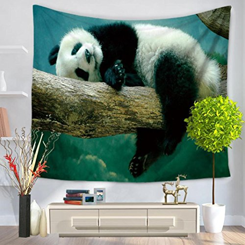 Blanket ,Usstore 1PC Animal Panda Tapestry Hippie Mats Home Decor Decoration For Bedroom living bathroom Shop Sofa Office Ornament Home Décor (A) (Full Anime Size Blanket)