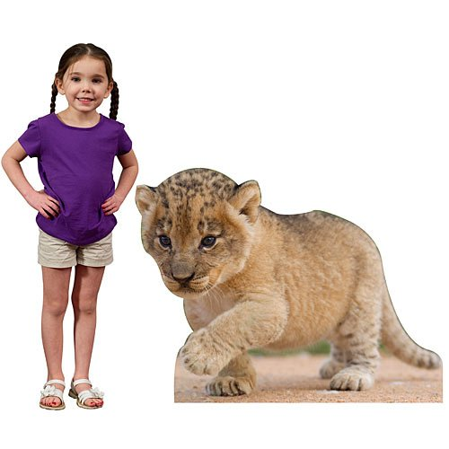 Baby Lion Cub Animal Standee by Stumps