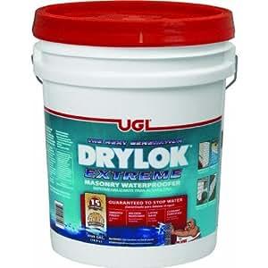 Drylok Latex Base Masonry Waterproofer Latex Interior/Exterior Smooth Finish White 5 Gl 15 Yr Warran