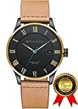BRIGADA Swiss Watches for Men, Nice Fashion Cool Black Business Casual Men's Watch, Great Gift for Families, Lover, Friends or Yourself