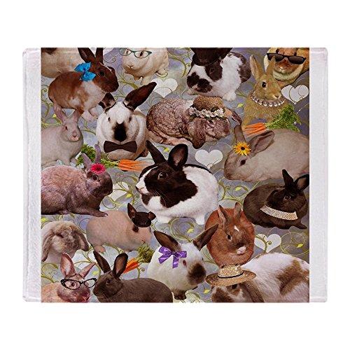 CafePress Happy Bunnies Soft Fleece Throw Blanket, 50