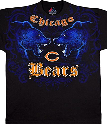 Chicago Bears Black Face - Chicago Bears Face Off Mens T-Shirt