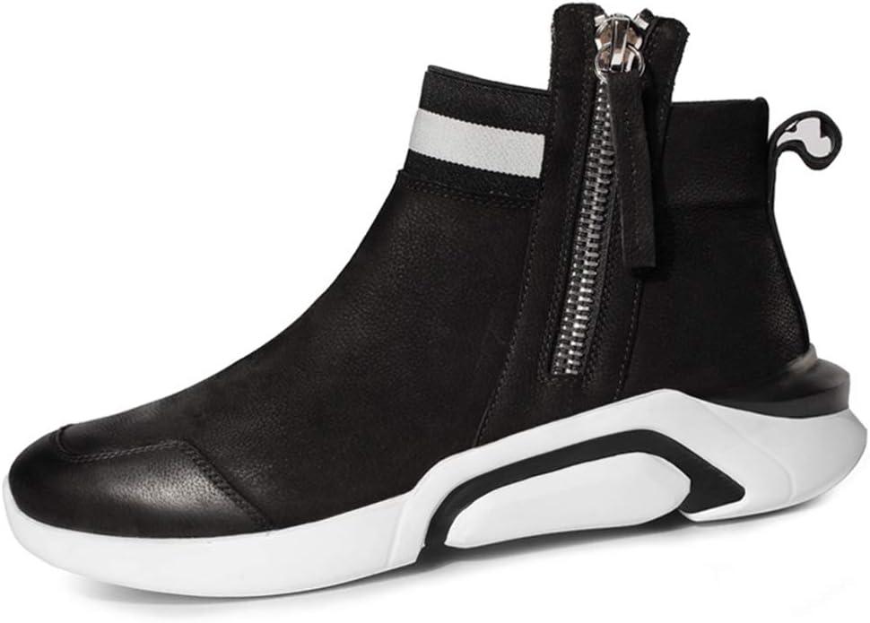GYPING Zapatillas Running de Primavera para Hombre Zapatos Deportivos de amortiguación al Aire Libre Zapatillas de Piel de Vaca Trabajo Urbano Caminata Senderismo,Red B- 41/UK 7.5: Amazon.es: Hogar