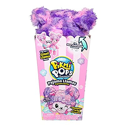 Pikmi Pops Giant Pajama Llama - Poppy Sprinkles - Scented Stuffed Animal Plush Toy in Popcorn Box: Toys & Games