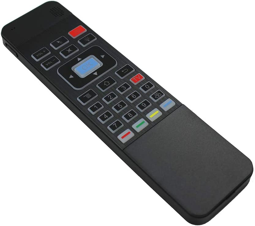 Calvas 2.4G Wireless fly Air mouse T3 Air mouse Backlit White remote control for smart tv Color: T3 Standard