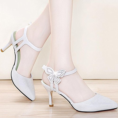 Pointed Heel TPU High Wrap 2 Head Vamp Summer Sole Thin Heels Toe Mouth PU Shallow Sandals xwfPYP