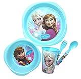 Disney Frozen 5 piece Plastic Children's Meal Set