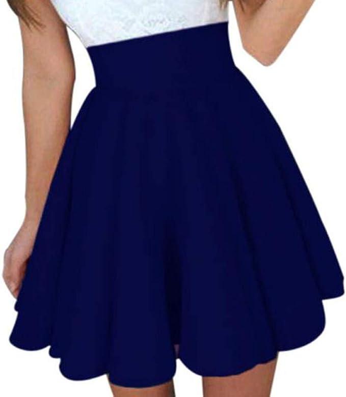 VEMOW Falda Mini Camiseta Tops para Mujer de cóctel para Verano ...