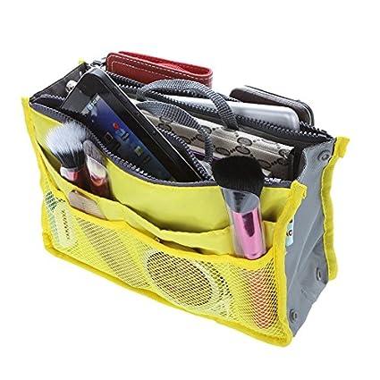 Careforyou®-Organizer per borsa donna per portatile,-Borsa porta cosmetici in beauty-Borsa da viaggio Organizer per borsa, inserti Red 02 11 x 6.7 x 3.7 XB01
