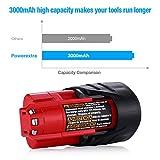 Powerextra 2 Pack 12V 3000mAh Lithium-ion