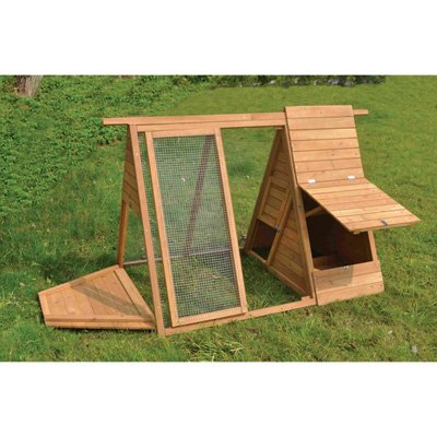 A Frame Wooden Chicken Coop With Run   2 To 3 Hens