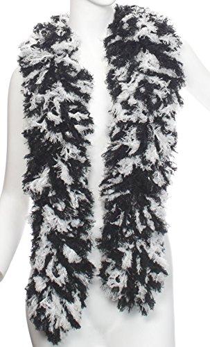 Super-Sized Featherless Boa (XL, Black White)]()