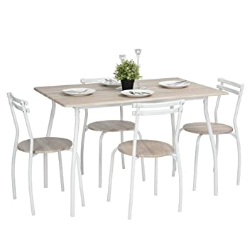 Innovareds Esstisch Stuhl-Set Küche Esstisch Set von 5 x 1 Set Tisch ...