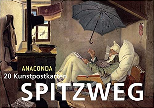 Der Bücherwurm Carl Spitzweg Postkarte
