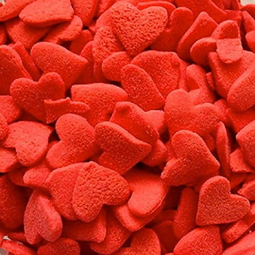 Jumbo Red Valentines Edible Hearts Sprinkles - 2.4 ounces - CK Products ()