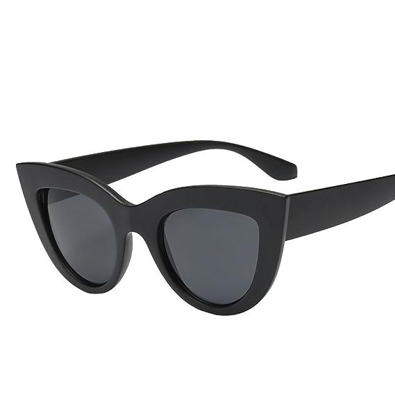 Mujeres Vintage Cat Eye Sunglasses Retro Gafas Moda Damas ...