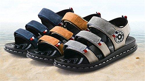 Beige Breathable Toe Velcro 3 Slippers Toddler Kid Boys BININBOX Sandals Girl Shoe Open 7d17qPn8w
