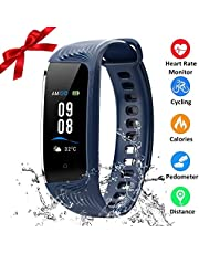 HONITURE IP68 Waterproof Fitness Tracker, Heart Rate Monitor Colour Screen Activity Tracker with Step Calorie Counter, GPS Pedometer, Slim Smart Bracelet for Kids Women Men