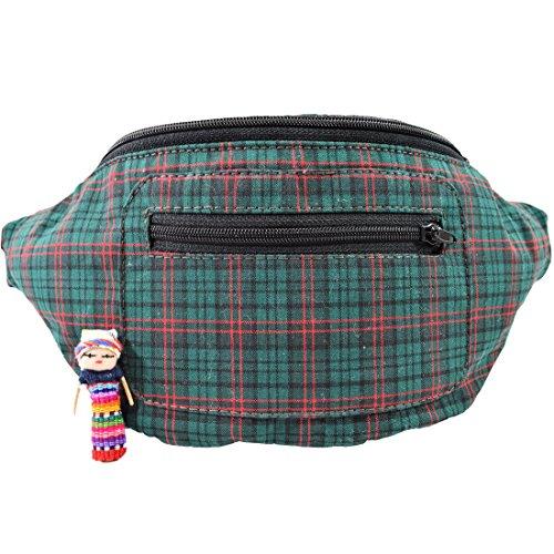 Santa Playa The Festive Fanny Pack, Holiday Season Boho Chic Handmade w/Hidden Pocket - Santa Bag Festive